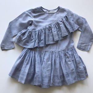 NELLYSTELLA Girls' Long Sleeve Ruffle Dress